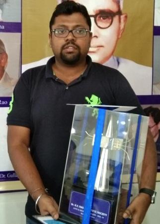 Kapudeep Karmarkar receives prestigious KVRSS award 2019